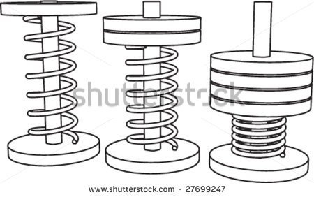 Compressed Spring Clipart.