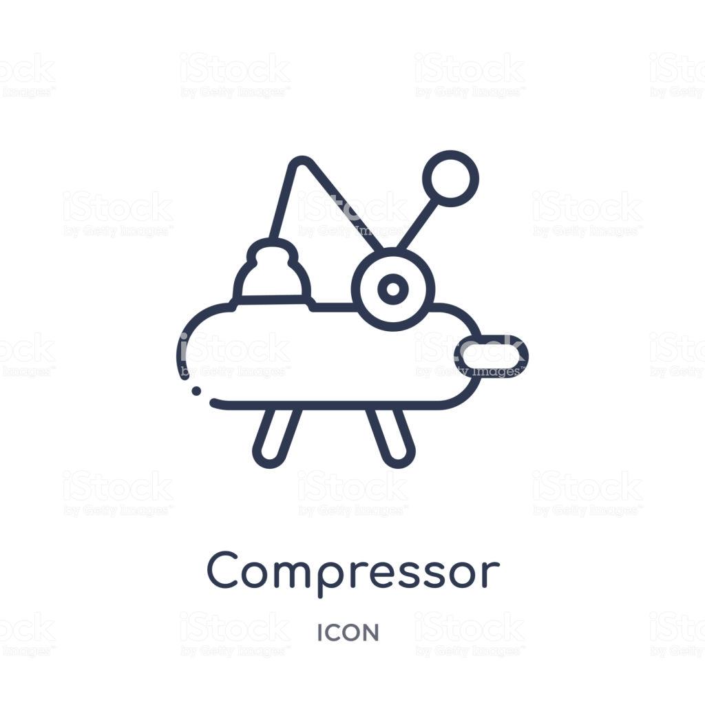 Icône De Compresseur Linéaire De La Collection De Contour De.