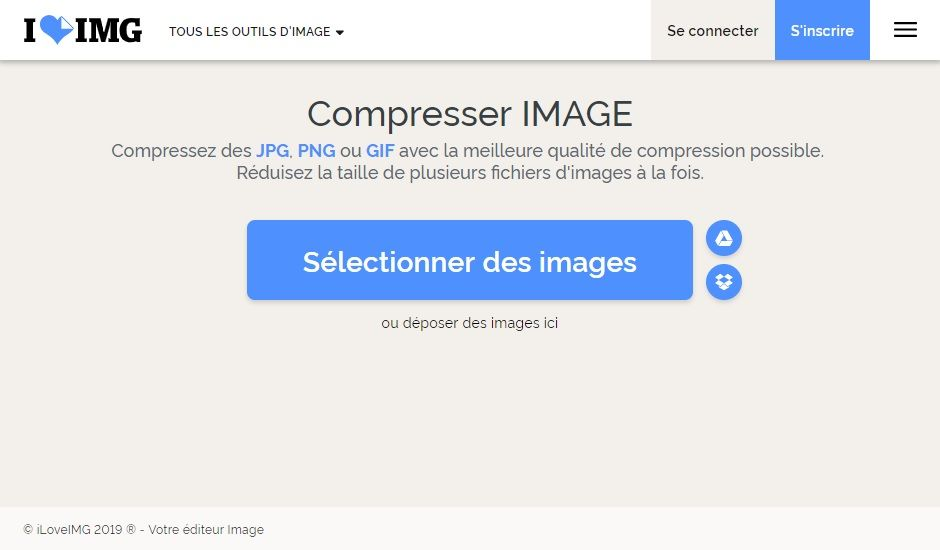 5 outils en ligne pour réduire le poids d'une image JPG ou PNG.