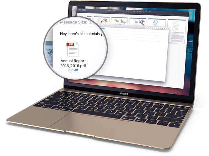 How to compress PDF file on Mac.