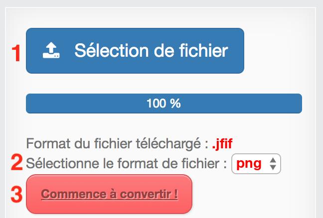 Convertir JFIF en PNG gratuite et en ligne.