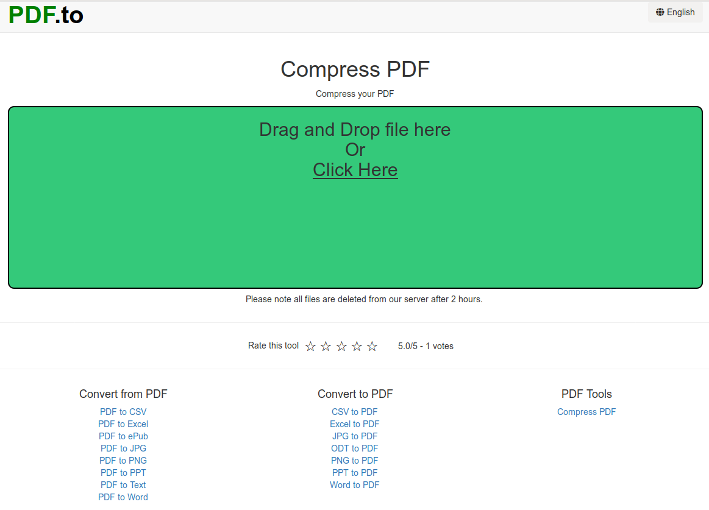 Compress PDF.