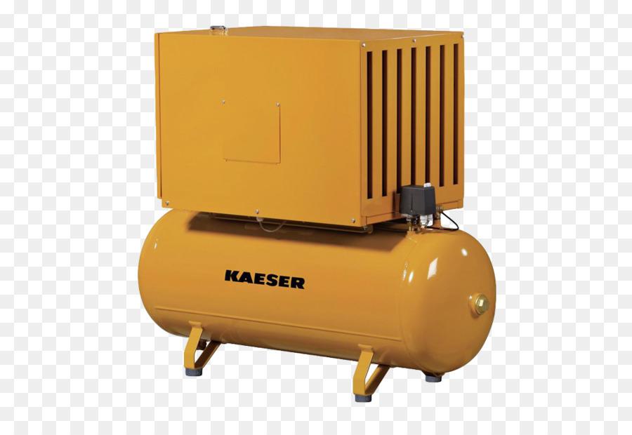Kaeser Compressors Compressor Pressure Vessel Yellow Hardware.