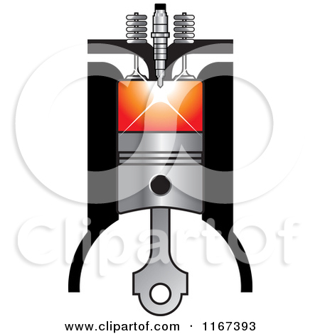 Clipart of a Diesel Compress Compression.