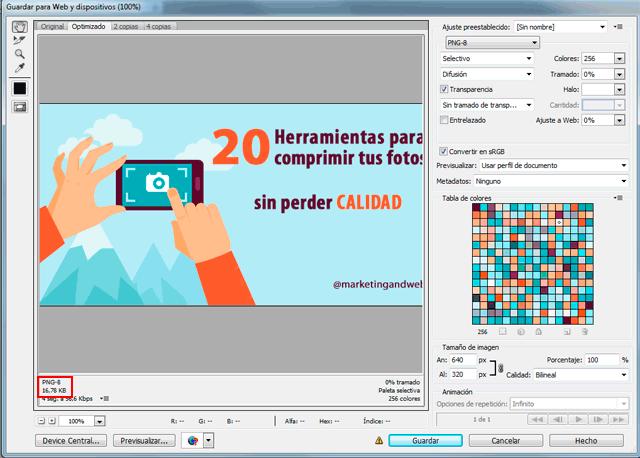20 herramientas para reducir el tamaño y comprimir fotos.