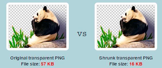 Comprimir imágenes en PNG.