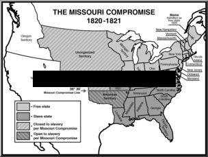 Missouri compromise clipart.