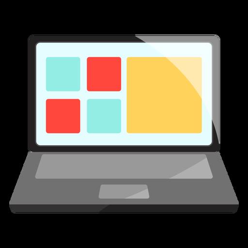 Computador portátil, ícone.