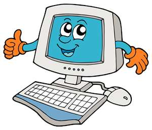 Kid On Computer Clip Art.