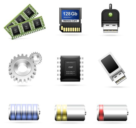computer accessories theme icon, Vector Image.