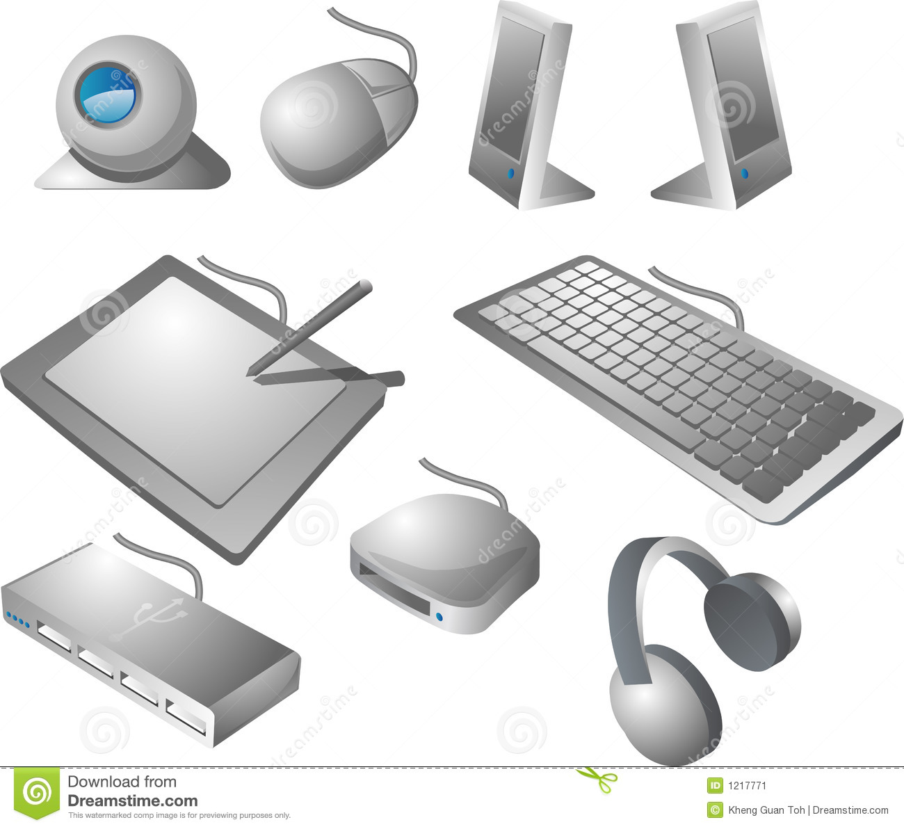 Computer accessories clipart.
