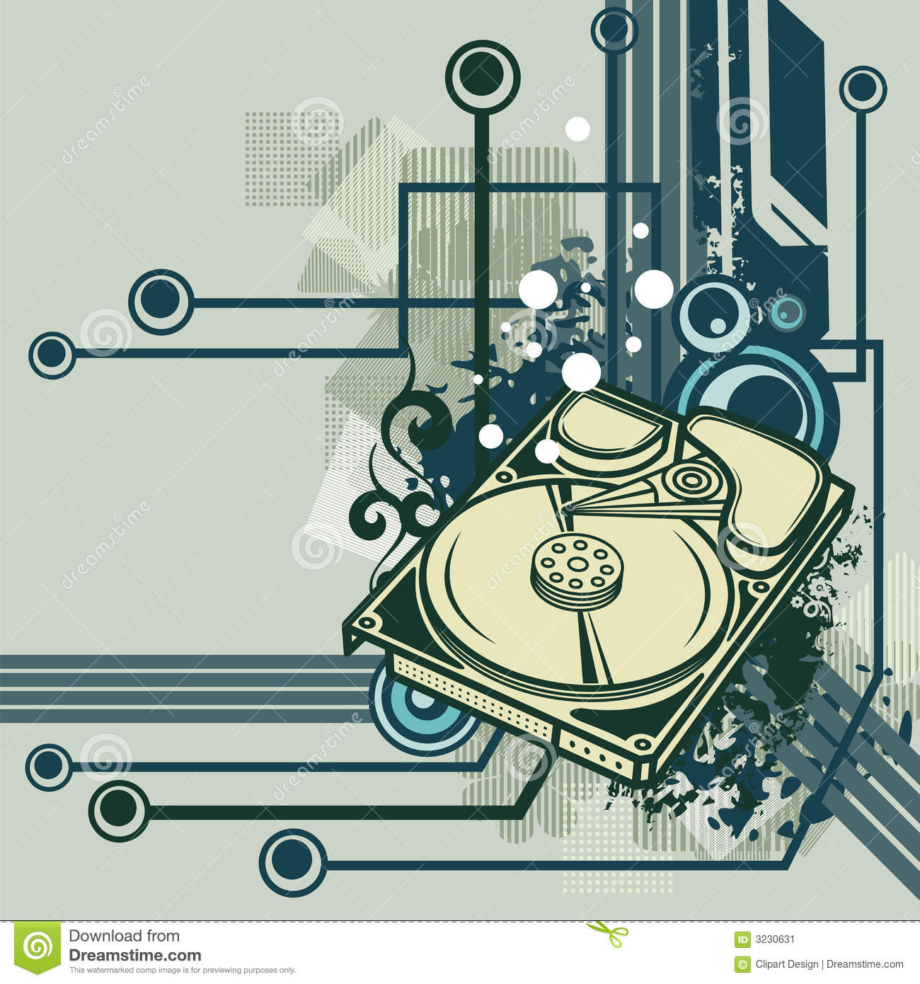 Computer background series stock vector. Illustration of connect.