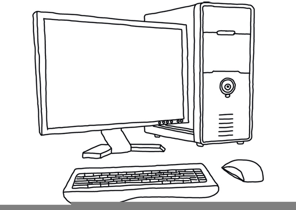 Computer Png Black And White & Free Computer Black And White.png.