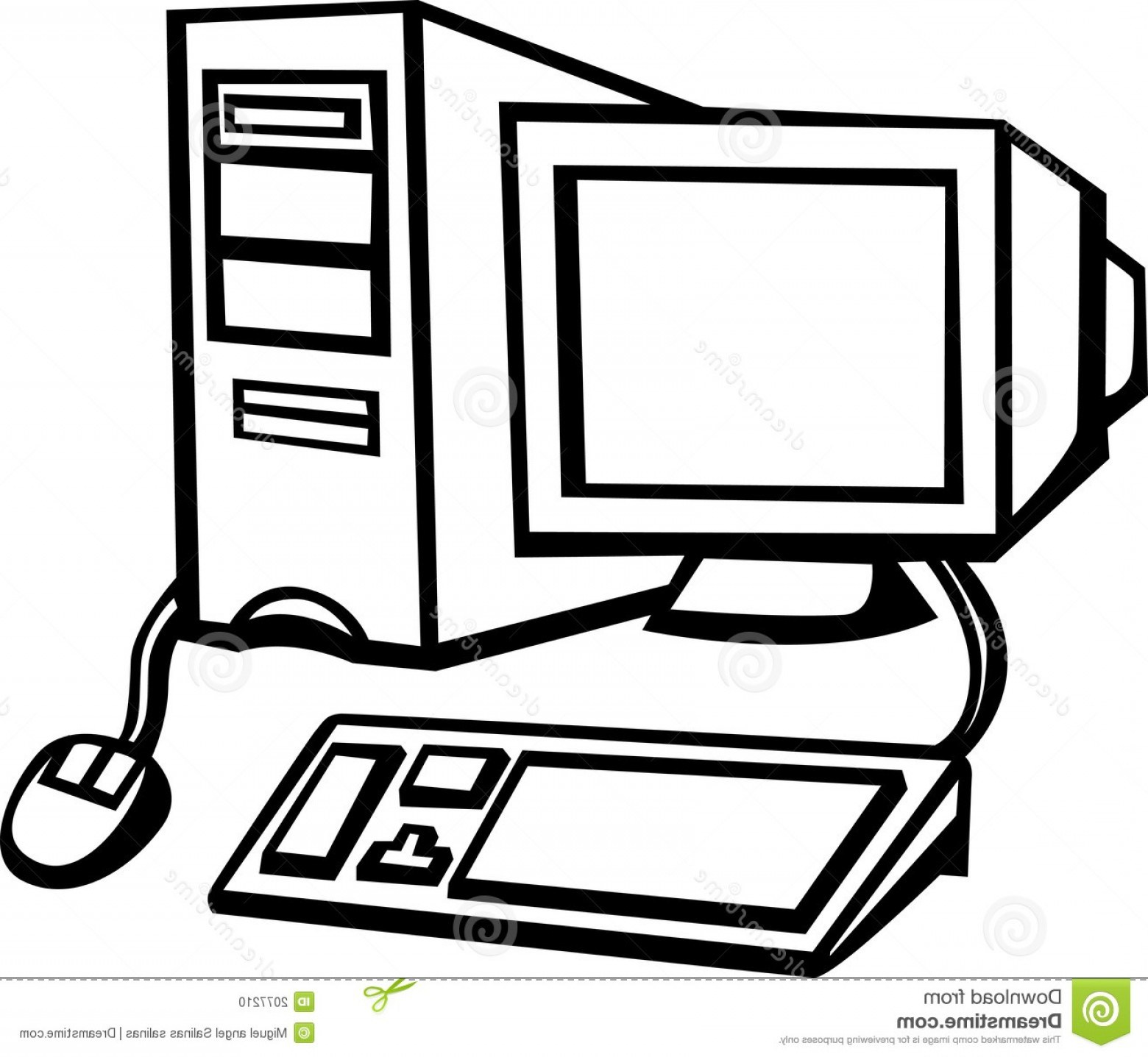 Clipart black and white computer 1 » Clipart Portal.