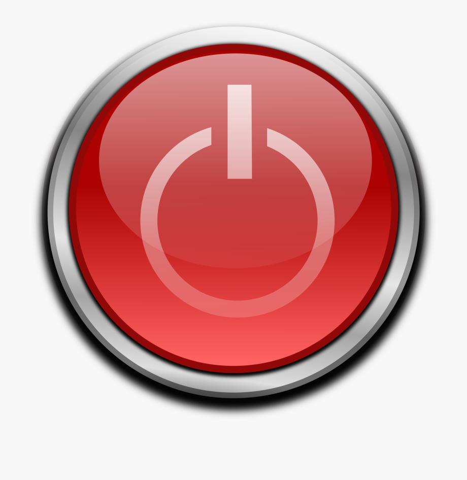 Red Power Button.