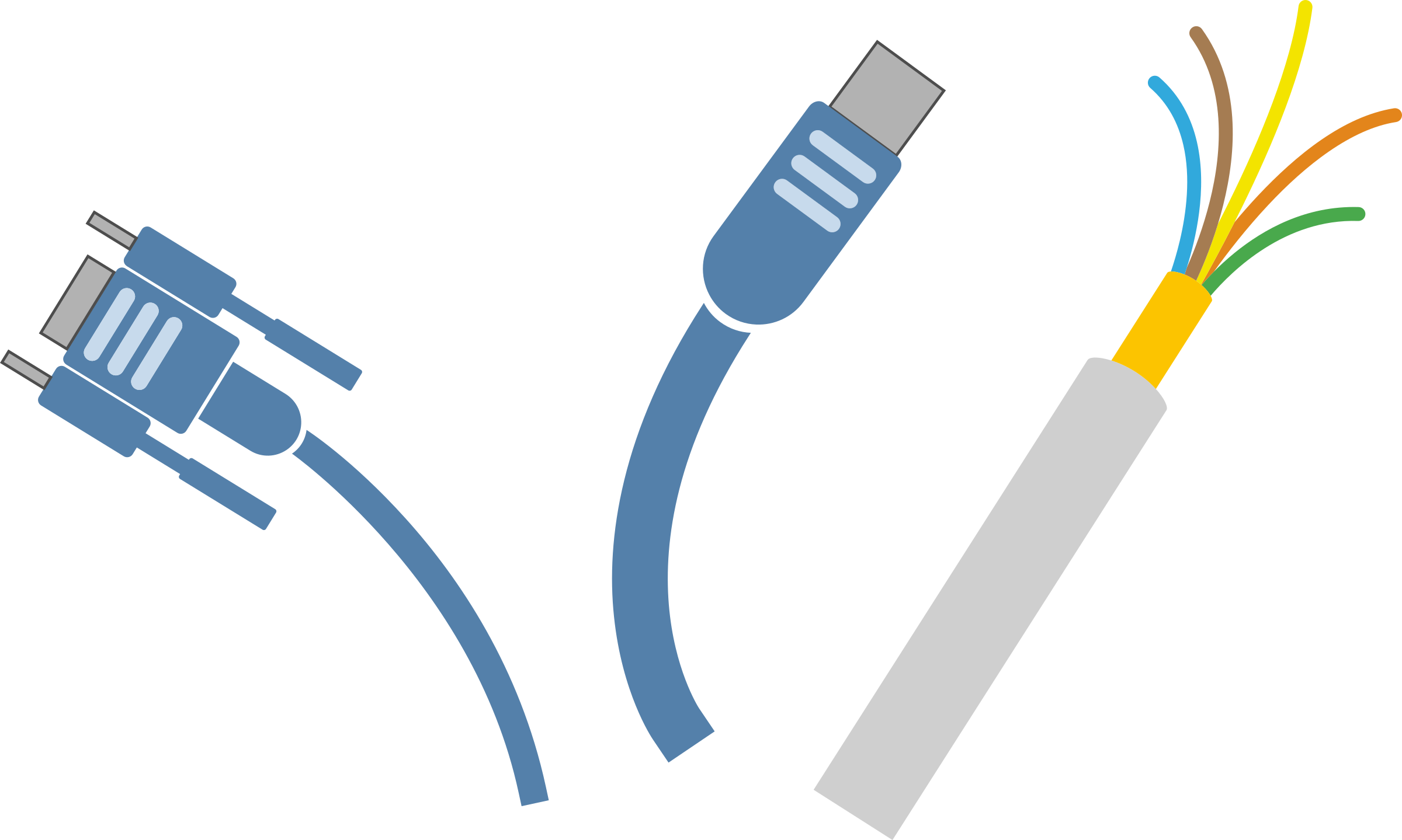 Computer cable clipart.