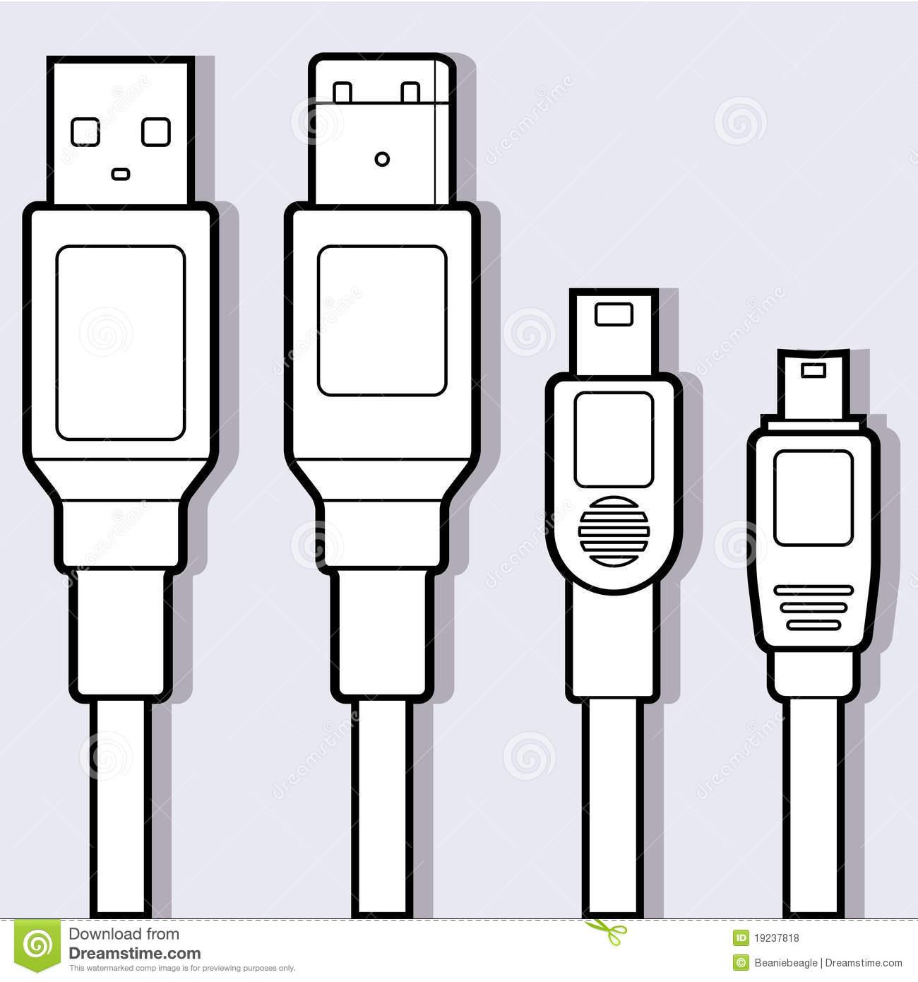 Computer Cables Diagram Royalty Free Stock Photos.