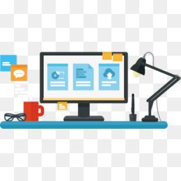 Cartoon Desk, Cartoon Clipart, Computer, #66896.