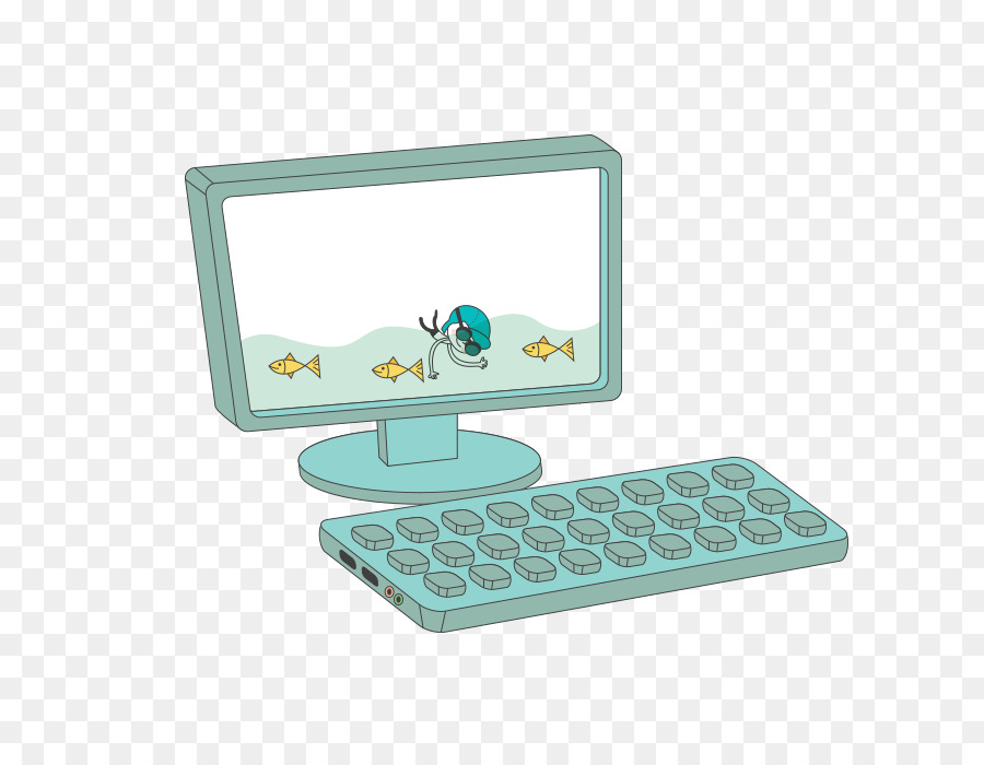 Cartoon Computer png download.