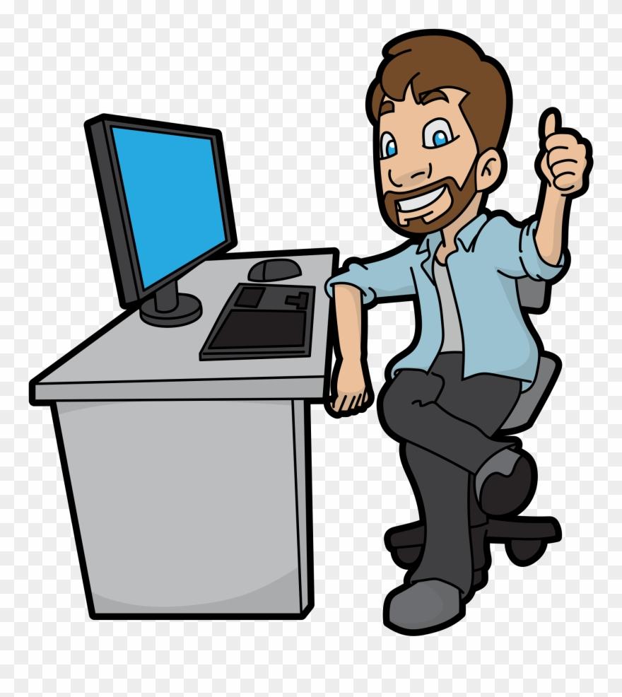 Computer Cartoon Png Clipart (#2738663).