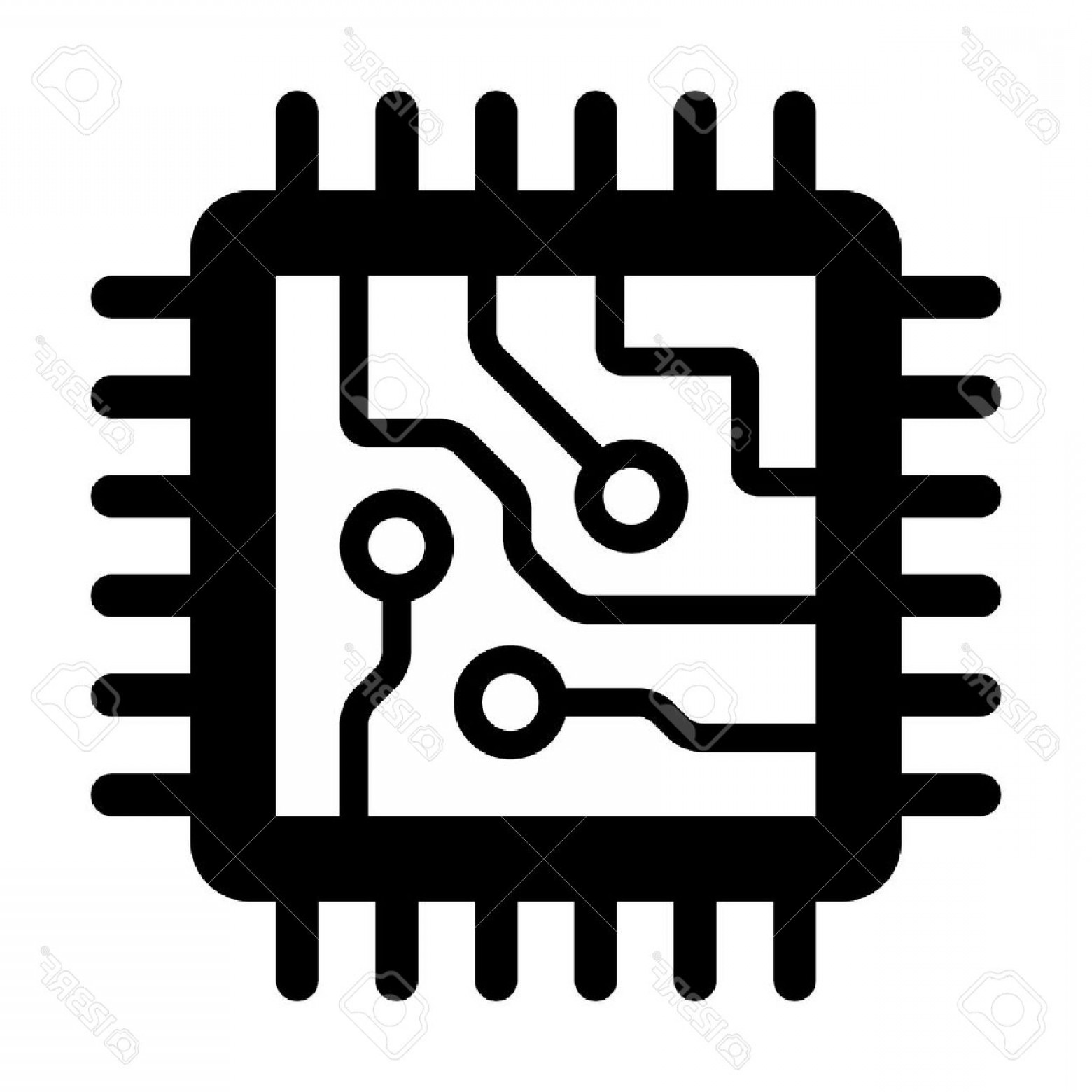 Photostock Vector Computer Chip Circuit Board Flat Icon For Apps And.
