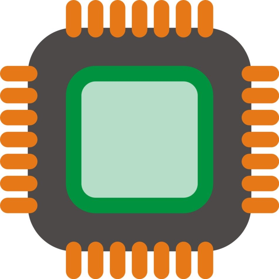Computer Chip Clip Art N7 free image.