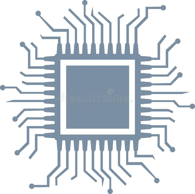 Computer Chip Stock Illustrations.