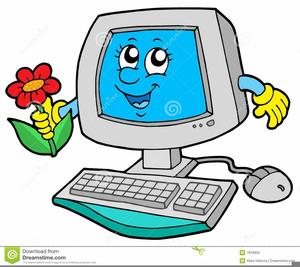 Teacher With Computer Clipart.