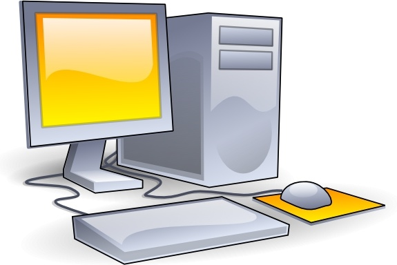 Desktop Computer clip art Free vector in Open office drawing svg.
