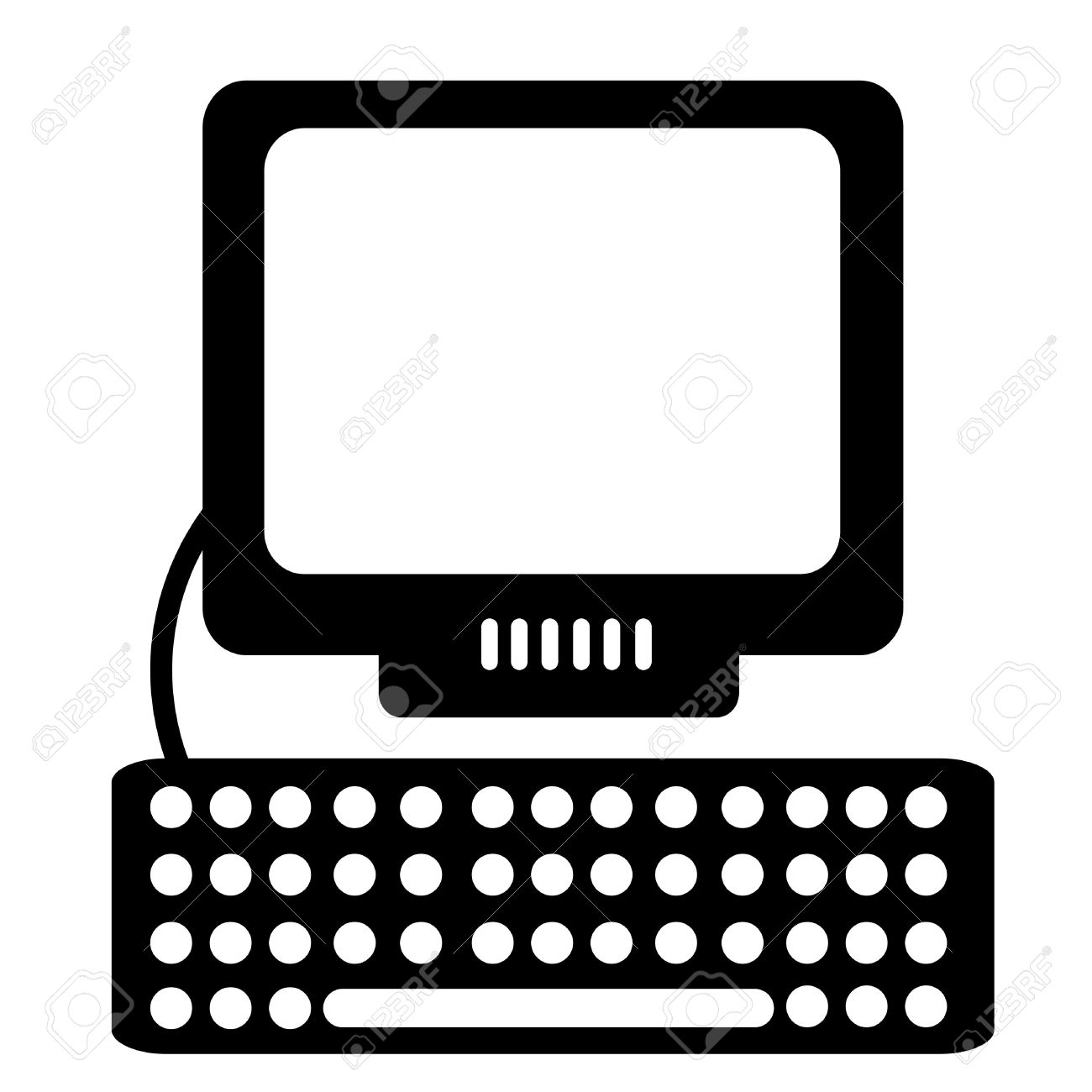 Computer black and white computer clipart black and white.