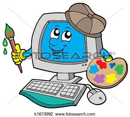 computer clipart cartoon #11