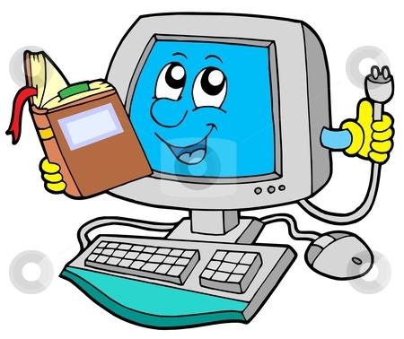 computer clipart cartoon #2