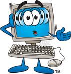 computer clipart cartoon #16