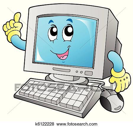 Cartoon Computer Clipart.