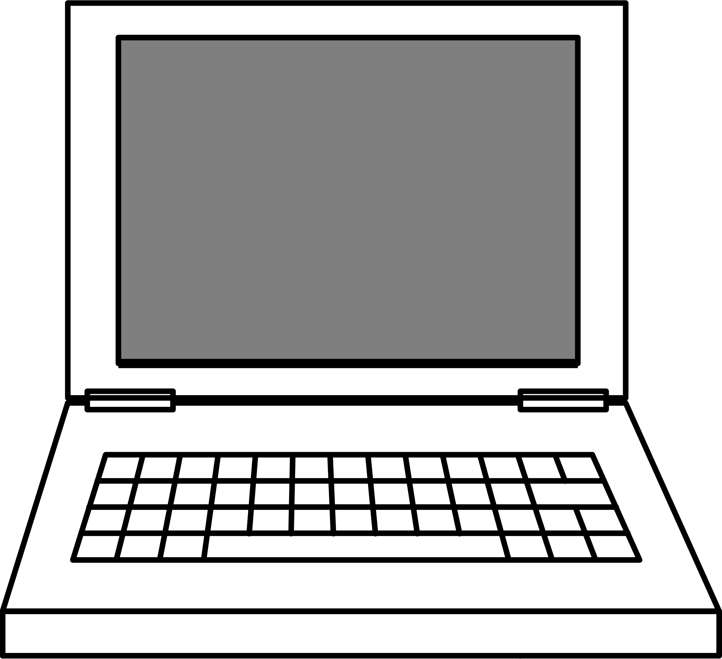 Laptop Black and white Free content Clip art.
