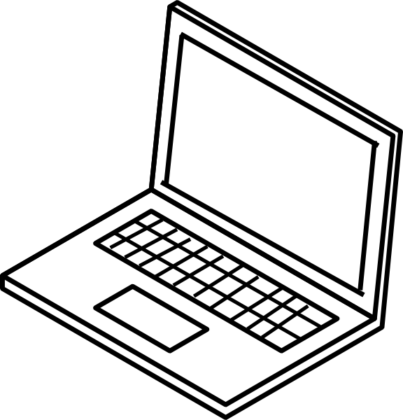 Laptop Outline Clip Art at Clker.com.