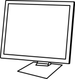 Free Black and White Technology Outline Clipart.