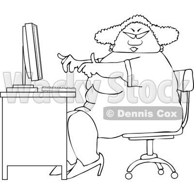 Personal Laptop Computer Clipart © Dennis Cox #4799.