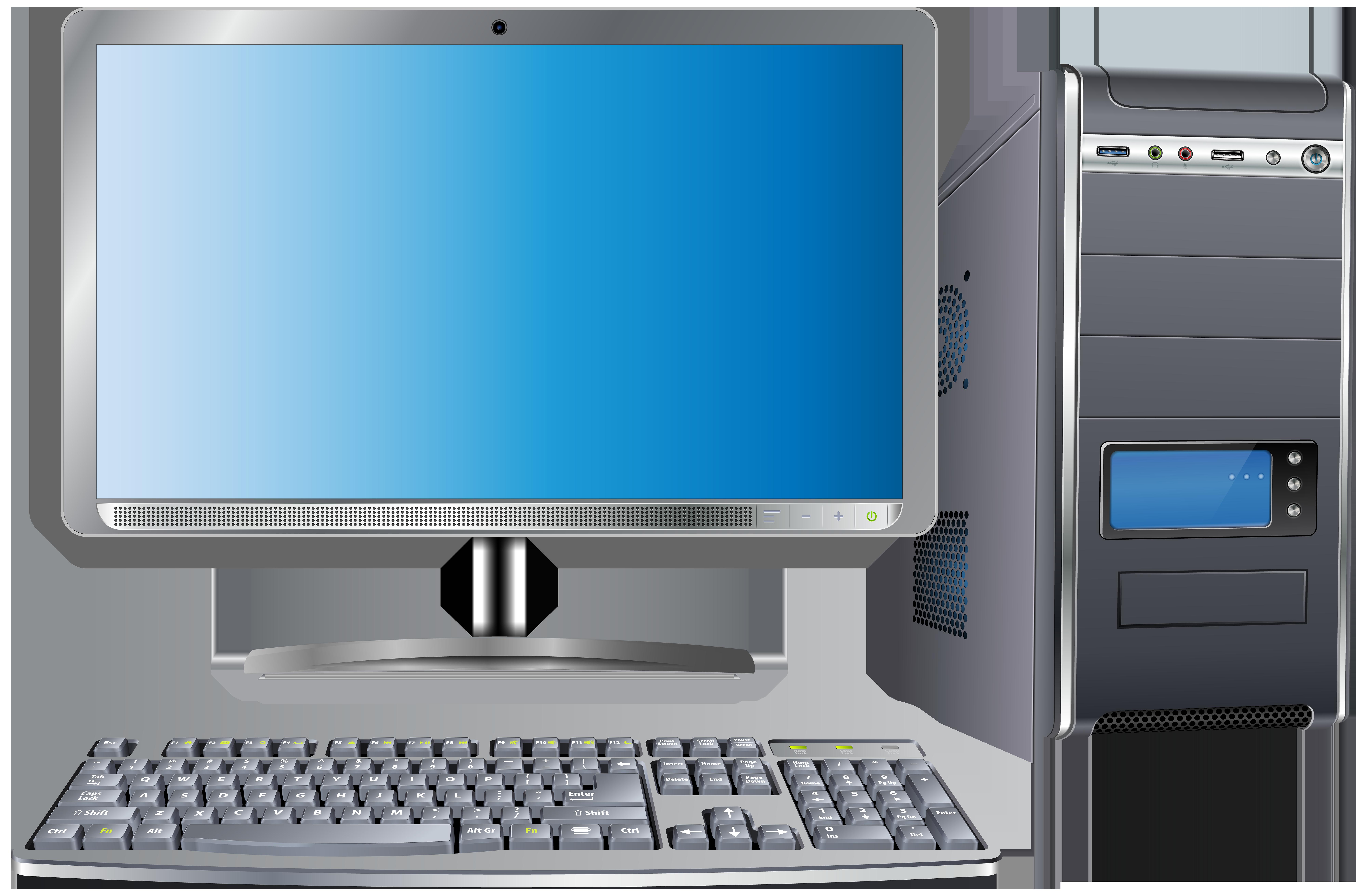 Computer Set Transparent PNG Clip Art Image.