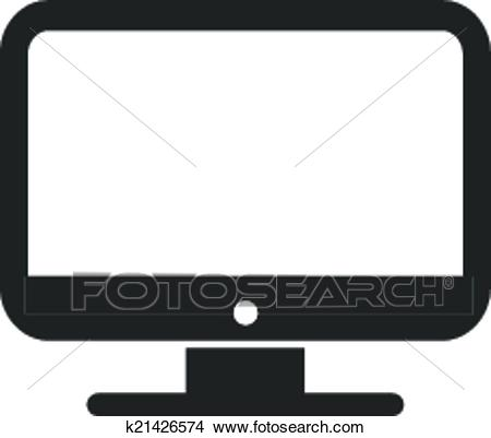 Vector Desktop Computer Icon Clipart.