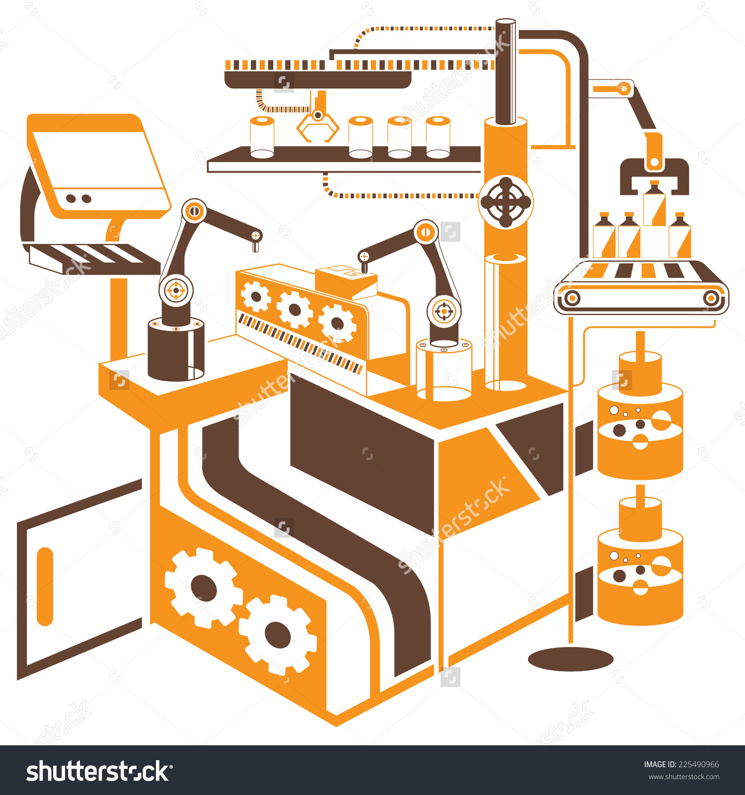 Computer Controlled Automated Manufacturing Process Industrial.