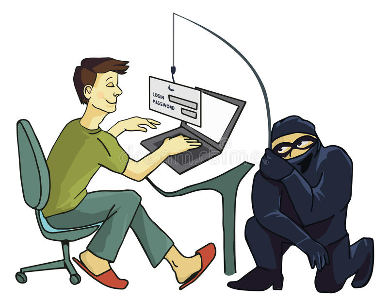 Computer Crime Stock Illustrations.