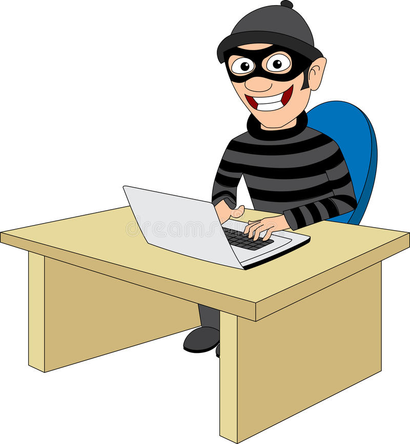Criminal Computer Stock Illustrations.