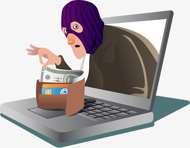 Online Payment Scam Vector, Masked, Computer, Crime PNG And Ve.