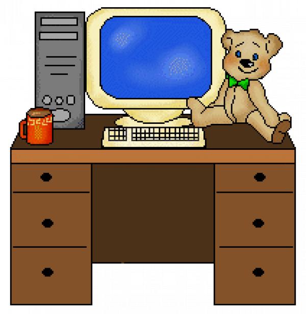 Computer Desk Clipart Images PNG Transparent Vector, Clipart, PSD.