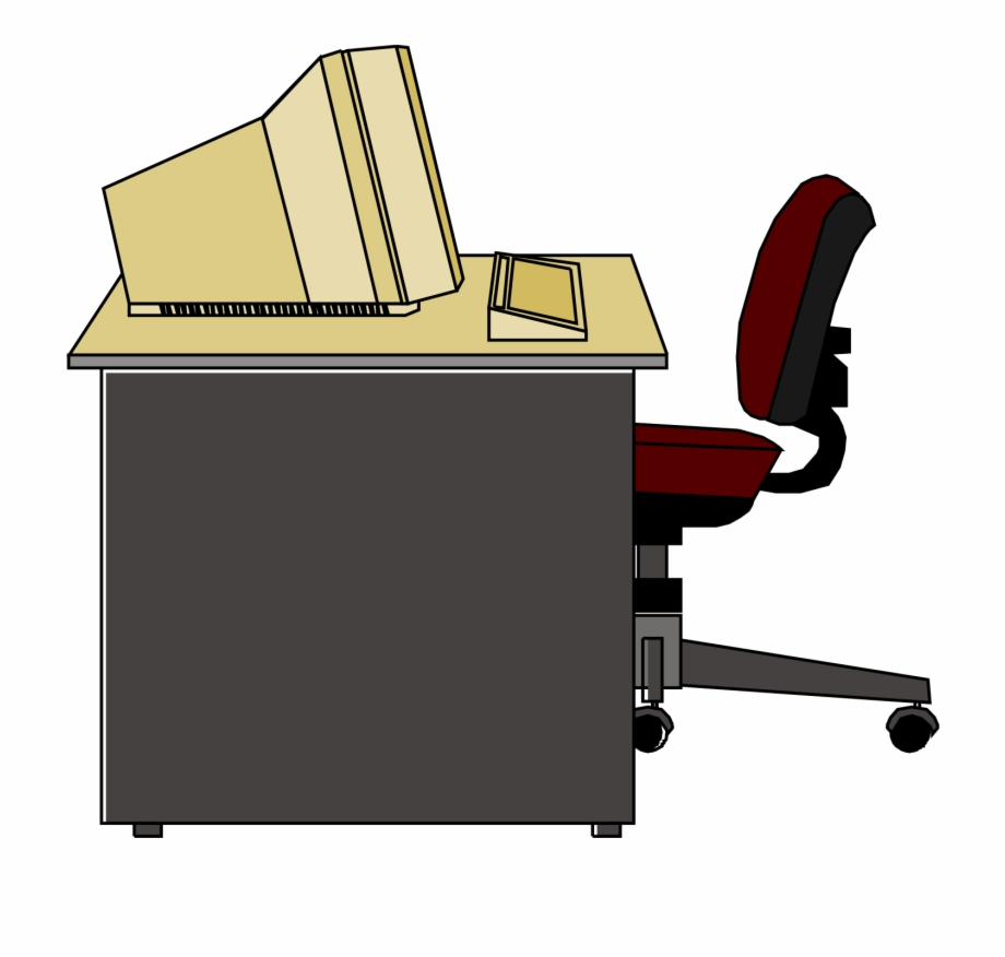 Computer Station Clipart.