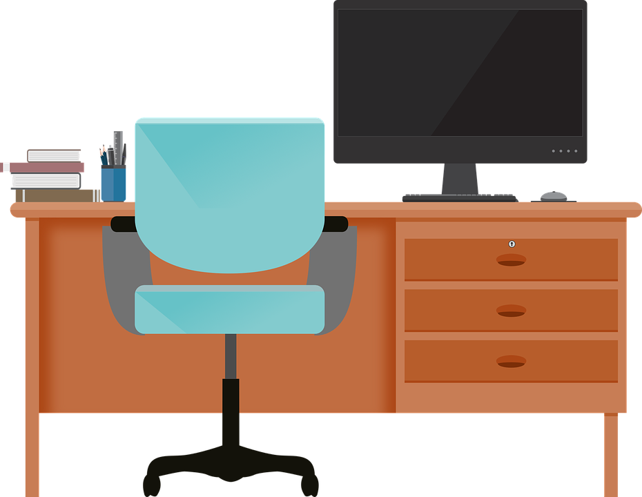 Furniture,Desk,Computer desk,Office chair,Turquoise,Table,Computer.