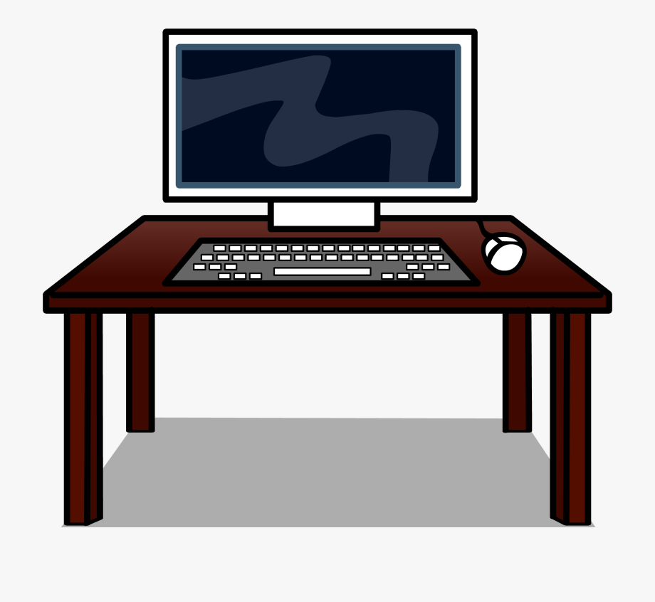 Clip Art Royalty Free Stock Computer Desk Clipart.
