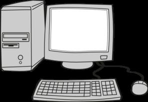 Computer Diagram Clip Art.