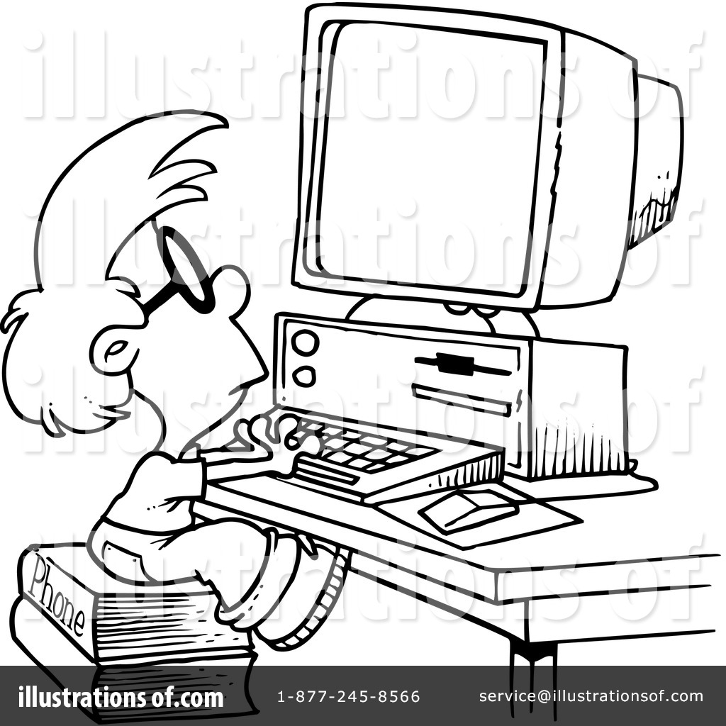 Computer Drawing Clipart.